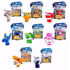 Kit 8 Super Wings Mini Aviões Discovery Kids Transformers