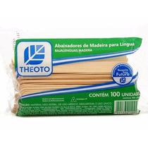 Palito Abaixador De Língua Theoto - 100 Unidades