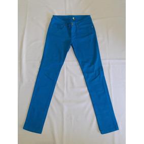 Jeans Elasticado Pitillos Skinny Azulino Talla 38 Marca Olé