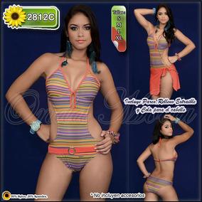 Traje Baño Dama Moda 2017 Trikini Entero Importado Coleccion