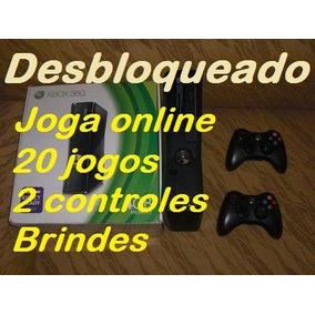 Xbox 360 Desbloqueado+20jogos+2controles+brindes+garantia