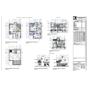 Plano De Casa Estilo Minimalista- Remate