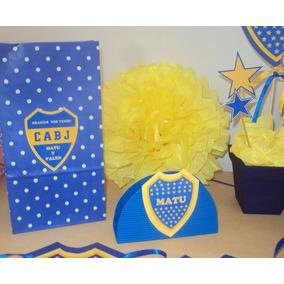 Bolsitas Cumpleaños Boca Juniors Futbol Personalizadas