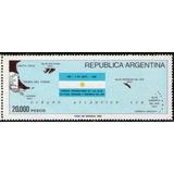 Argentina Recuperación Islas Malvinas, Bandera Y Mapa 1983