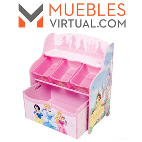 Mueble Infantil - Organizador Juguetes Completo Princesas
