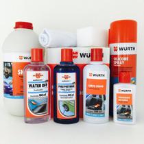 Hidratante De Banco Couro + Shampoo + Water Off + Silicone +