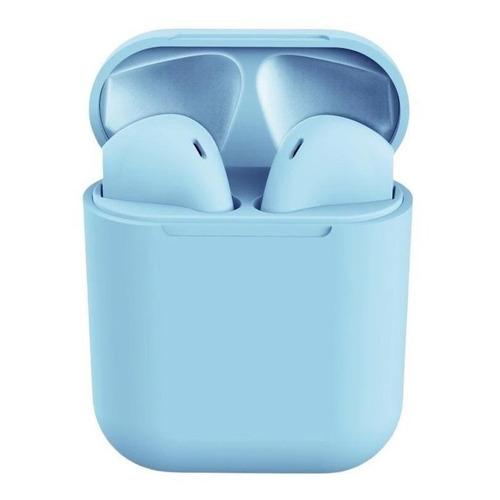 Audífonos In-ear inalámbricos i12 TWS celeste