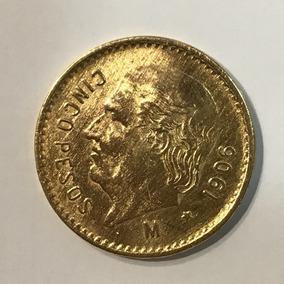 Moeda Estados Unidos Mexicano, Cinco Pesos, 1906 - 4.2 G