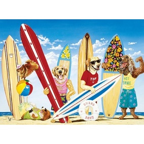 Rompecabezas Perros Surfistas 100 Pzs Xxl Ravensburger 10783