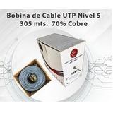 Cable Utp Cat 5e Bobina De 305 Metros Testeado Somos Tienda