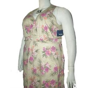 Vestido Plus Estampado Talla 3x Extragrande Para Gordita