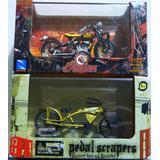 Moto Indian Scout Y Bicicleta Scrapers Escala 1/32 Nuevas