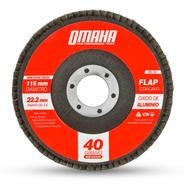 Disco Flap 115 Mm Oxido De Aluminio Grano 40 Omaha Dfa4540