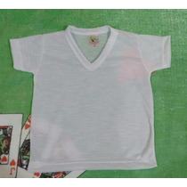 Camiseta Para Bebê Tecido 100% Poliester Sublimação 10 Un