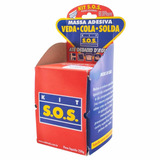 Cola Massa Adesiva Kit Sos 250g Secagem Rápida Vedatudo