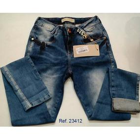 Calça Jeans Feminina Oppnus Skinny Realça Bumbum Fabi 23412