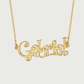 Colar Com Nome Brenda - Corrente de Ouro no Mercado Livre Brasil 5907463f6d