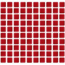 Decoração - Pastilhas Adesivas Resinadas - Vermelho Intenso