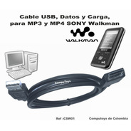 Zcsw01 Mp3-mp4 Sony Walkman Cable Usb, Datos Computoys