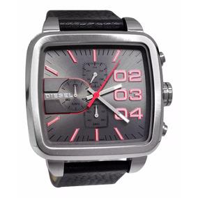 7ac24aff785 Relógio Qw6761 Diesel Dz4304 Square Prata Couro Original