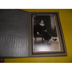Antiguo Foto Fotografia San Telmo Mujer Vestido Zapato