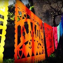 Banderines Estilo Mexicanos De Tela