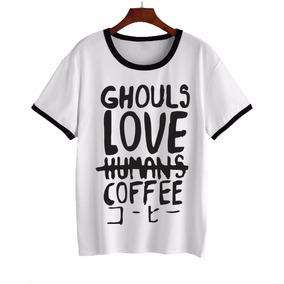 Remera Tokio Ghoul Love Coffee Mujer Y Opcional Hombre