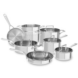 Set De Ollas 12 Piezas Kitchenaid Tri-capa Acero Inoxidable
