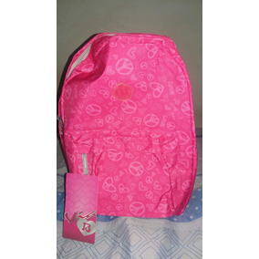 Mochila Rosa Via 13 Feminina Peace And Love