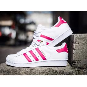 adidas superstar lineas rosas