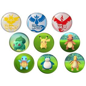 Pokemon Go P/ Capturar - Kit C/ 9 Buttons C/ Imagens Do Jogo