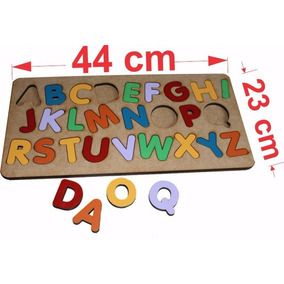 2 Tabuleiros Alfabeto+ Números Brinquedo Educativo Pedagógic