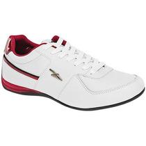 Tenis Apoort 996 Blanco Rojo Pv