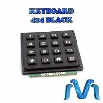 Keyboard Negro 4x4 Teclado Alfanumerico Rigido Matricial