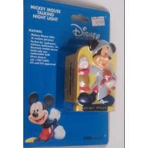 Lampara Noche Mickey Mouse Parlante Sensor Luz Movimiento