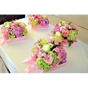 Centro De Mesa Casamiento Flores Naturales Artesanias En Mercado - Centros-de-mesa-de-flores-naturales