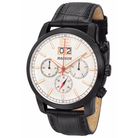 Relógio Magnum Masculino Cronógrafo Ma34950d Preto Social