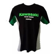 Camisa Kawasaki Team Green Racing Camiseta Algodão Ref.264