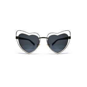 Lente De Sol Forma Corazón Color Negro, Glasses G3, Pop8082