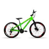 Bicicleta Aro 26 Venzo Fx3 21v Index Freio A Disco Verde