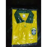 Camisa Polo Masculina Seleçao Brasileira+ Brinde Camisa Prot