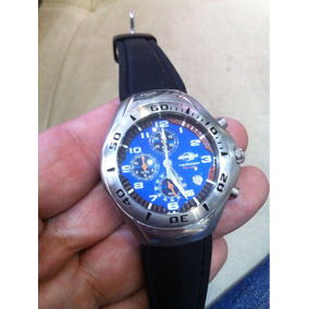 Relógio Cronógrafo Technos Mormaii T426 Fundo Azul Impecavel