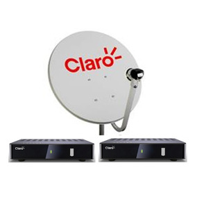 Kit Claro Tv Pré-pago 2 Receptores Digital + Antena 60 Cm