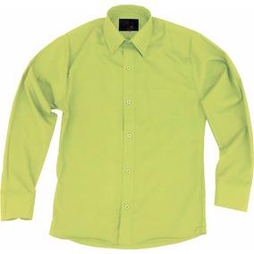 Camisa De Vestir Para Adulto Verde Manzana 34 A 42