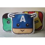 Almohadón Superhéroe Ironman Hulk Capitán América - Búho