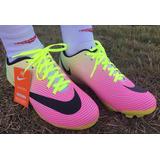 d53d82afbb Chuteira Nike Campo Branco Rosa Neynar Cr7 Brasileirão Fr Gr