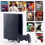 Ps3 Ultraslim 500gb + 1 Control + 30 Juegos Digitales..!!