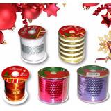 Hermosas Cintas Decorativas Para Navidad Por Rollos 9 Metros