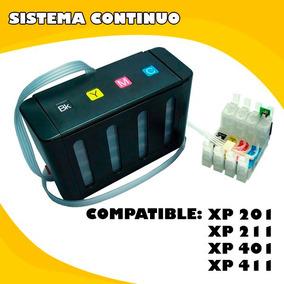 Sistema Continuo Epson Xp201-xp211- Xp401 Con O Sin Tinta