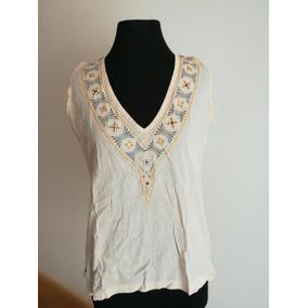 Remera Blusa Camisa Mujer Beige Talle S Algodón Muy Bueno